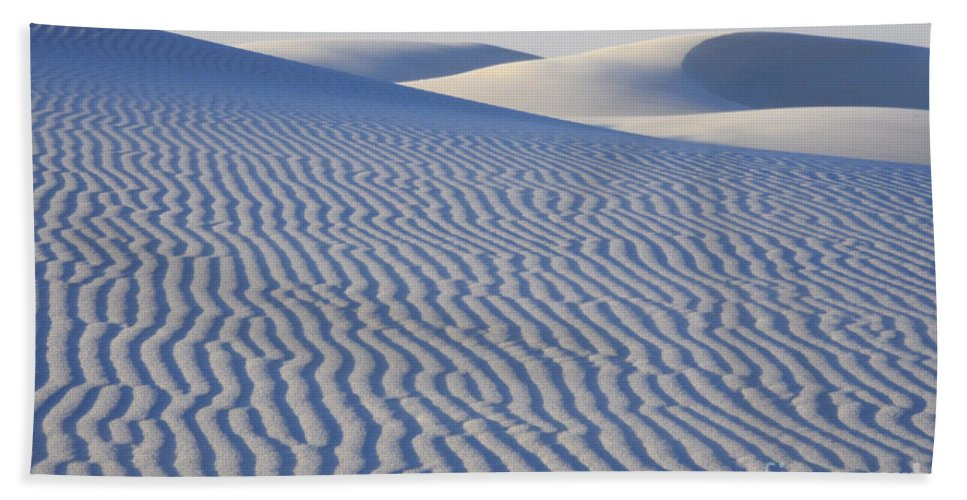 Alamogordo Hand Towel featuring the photograph Patterns White Sands New Mexico by Bob Christopher