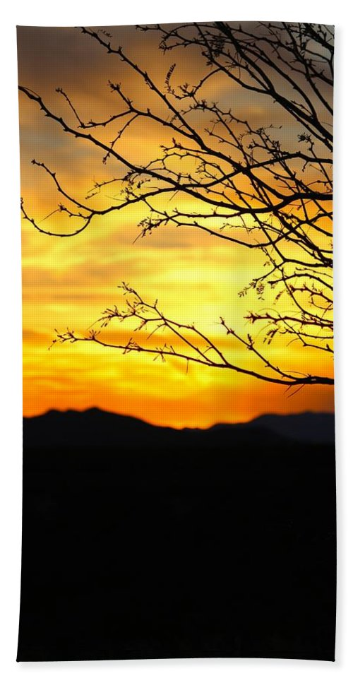 Sunset Hand Towel featuring the photograph Beauty by Tiffany Erdman