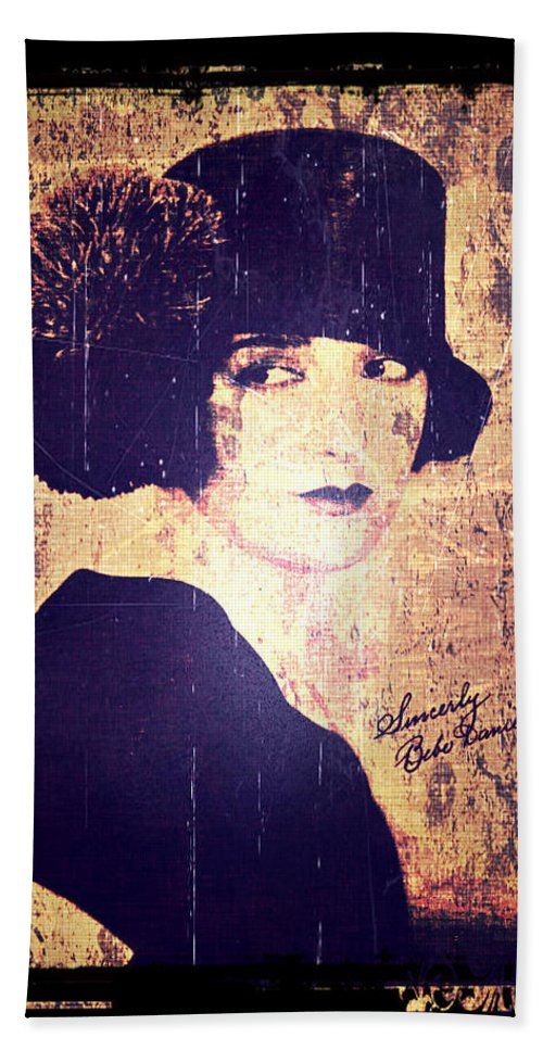 Bebe Daniels Hand Towel featuring the photograph Bebe Daniels - 1920s Actress by Absinthe Art By Michelle LeAnn Scott