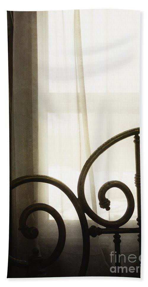 Bed Hand Towel featuring the photograph Bed By The Window by Margie Hurwich