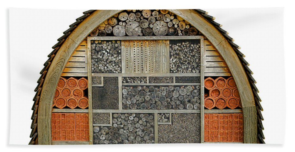 Bee Bath Towel featuring the photograph Bee Hotel by Olivier Le Queinec