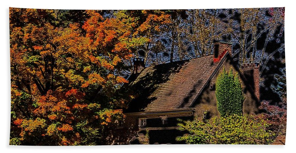 Hand Towel featuring the photograph Beehive House 2 by Judy Wolinsky