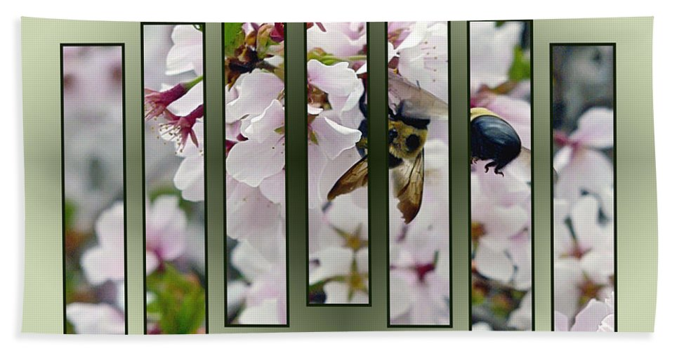 2d Hand Towel featuring the photograph Bees And Blossoms by Brian Wallace