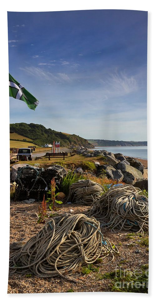 Travel Hand Towel featuring the photograph Beesands by Louise Heusinkveld