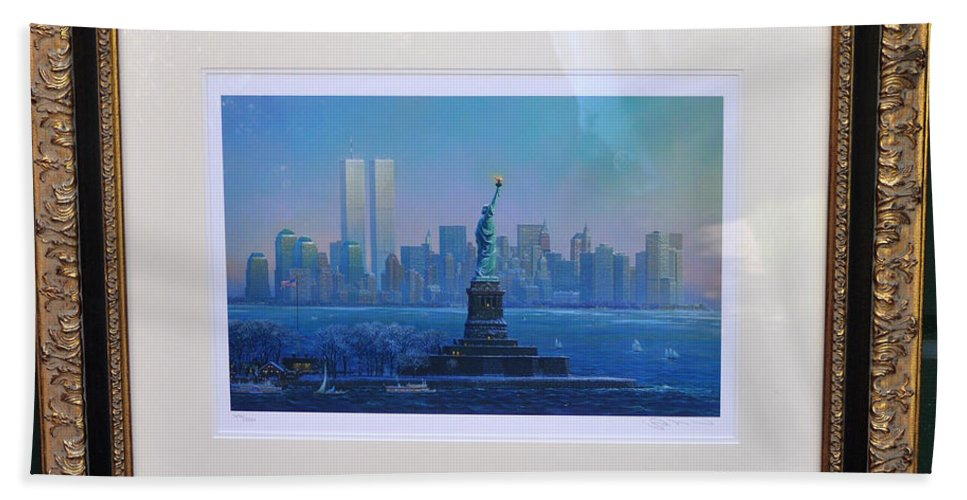 911 Hand Towel featuring the photograph Before Nine Eleven by Jay Milo