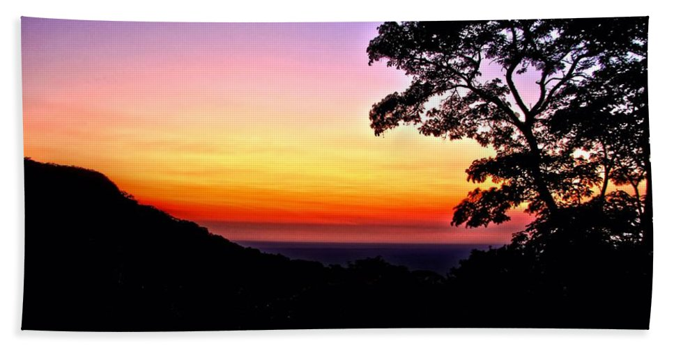 Landscape Bath Sheet featuring the photograph Zambia - Just Before Sunrise by Martin Michael Pflaum