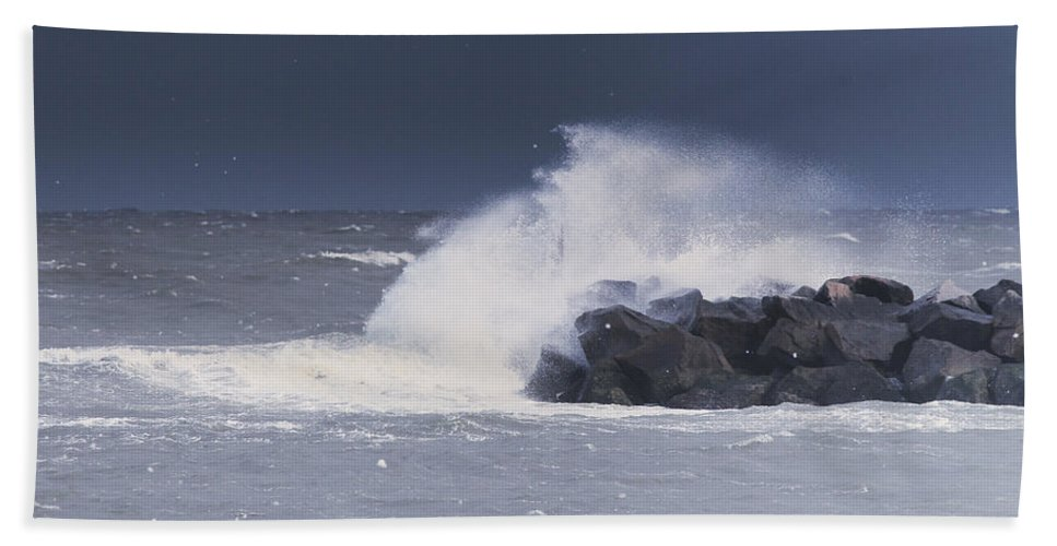 Bay Hand Towel featuring the photograph Before The Storm by Pete Federico