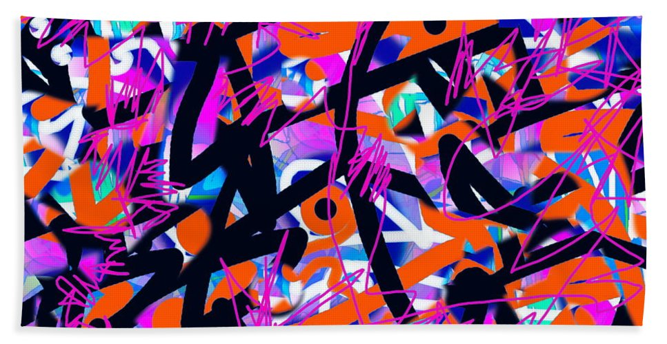 Colorful Graphic Hand Towel featuring the digital art Begin Anew by Expressionistart studio Priscilla Batzell