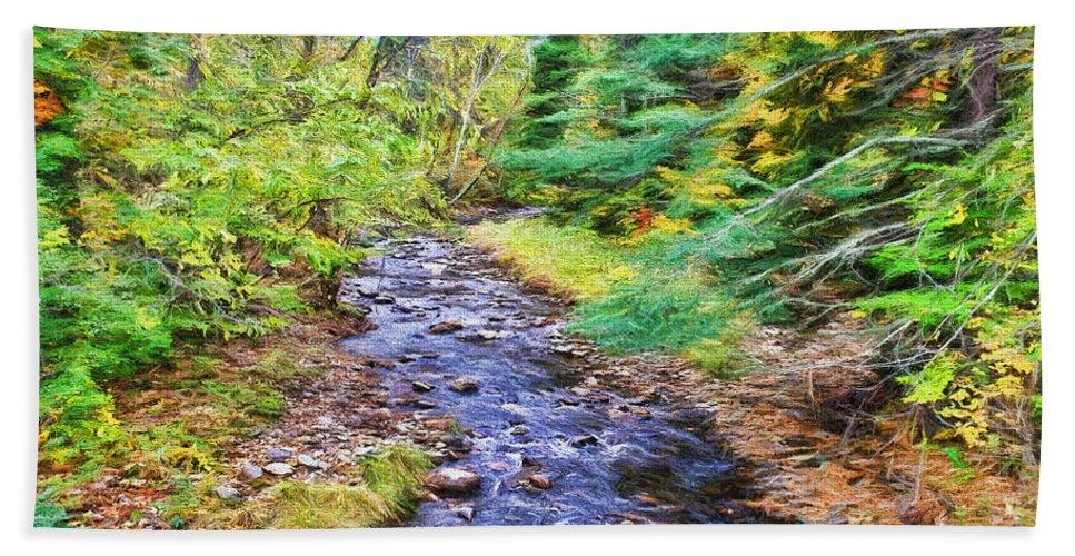 Autumn Bath Sheet featuring the photograph Beginning Autumn Changes by Deborah Benoit