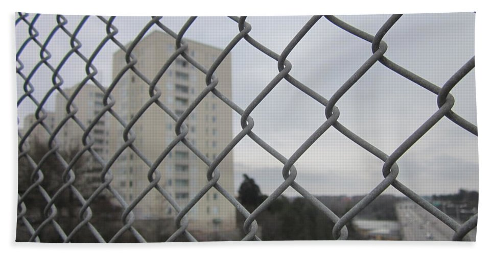 Greayweather Bath Sheet featuring the photograph Behind Bars by Rosita Larsson