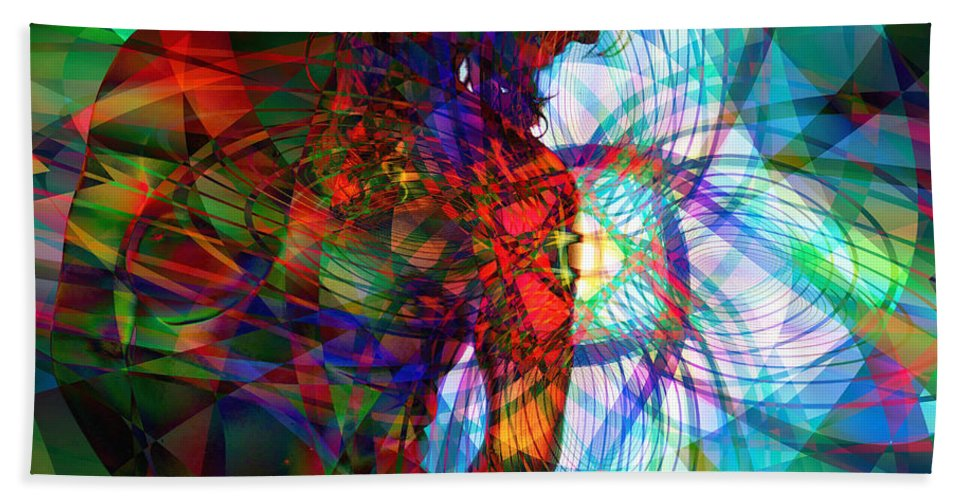 Being Hand Towel featuring the digital art Being Chakra by Kiki Art