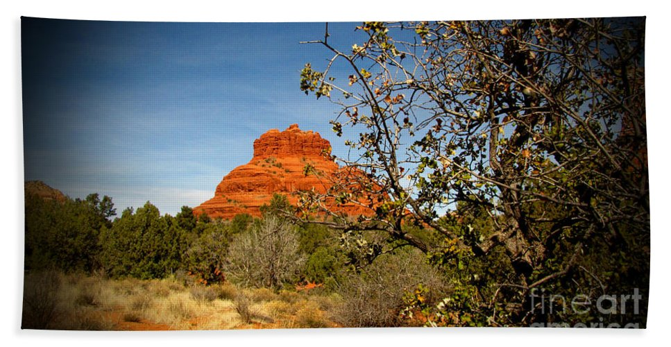 Bell Rock Hand Towel featuring the photograph Bell Rock Vista Sedona Az by Marilyn Smith