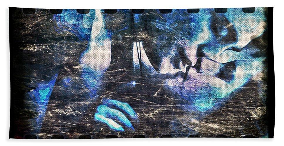 Bella Bath Sheet featuring the digital art Bella And Edward - The Icy Kiss by Absinthe Art By Michelle LeAnn Scott