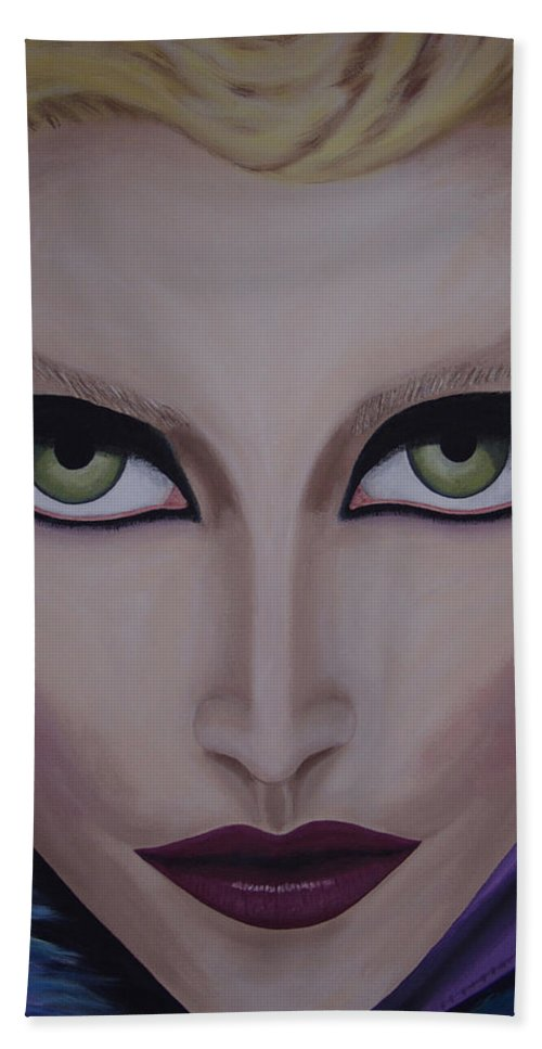 Beautiful Hand Towel featuring the painting Belle by Dean Stephens