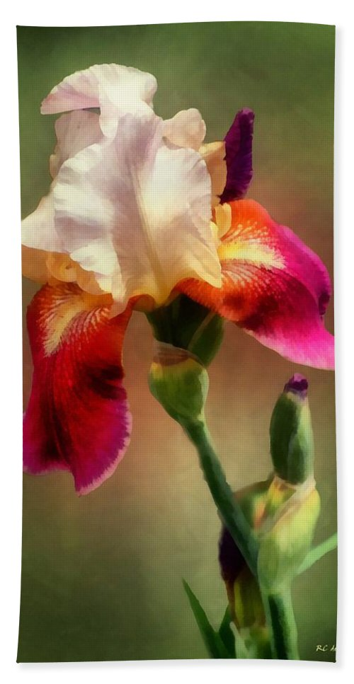 Iris Hand Towel featuring the painting Bellissima by RC DeWinter