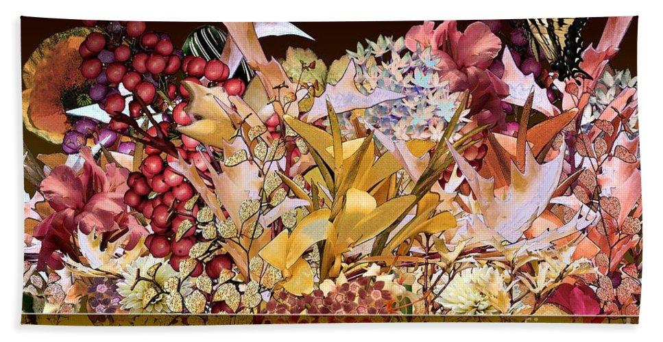 Flowers Bath Sheet featuring the digital art Below The Line by Paul Gentille