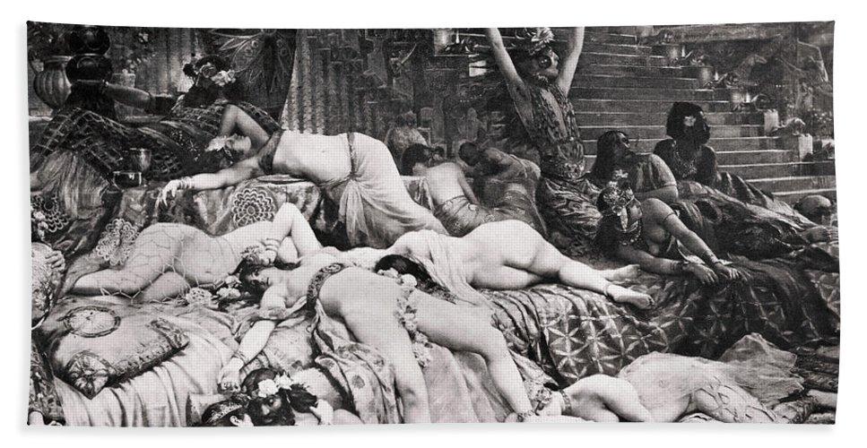 Ancient Bath Sheet featuring the photograph Belshazzars Feast by Granger