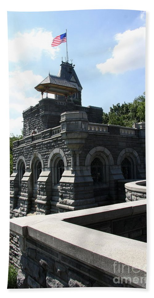 Belvedere Castle Hand Towel featuring the photograph Belvedere Castle - Central Park by Christiane Schulze Art And Photography