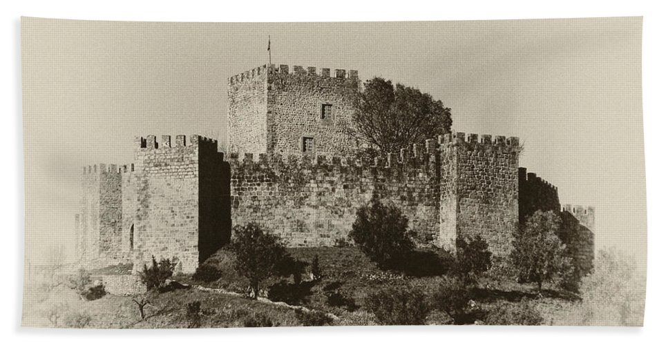 Ancient Bath Sheet featuring the photograph Belver Castle by Paulo Goncalves