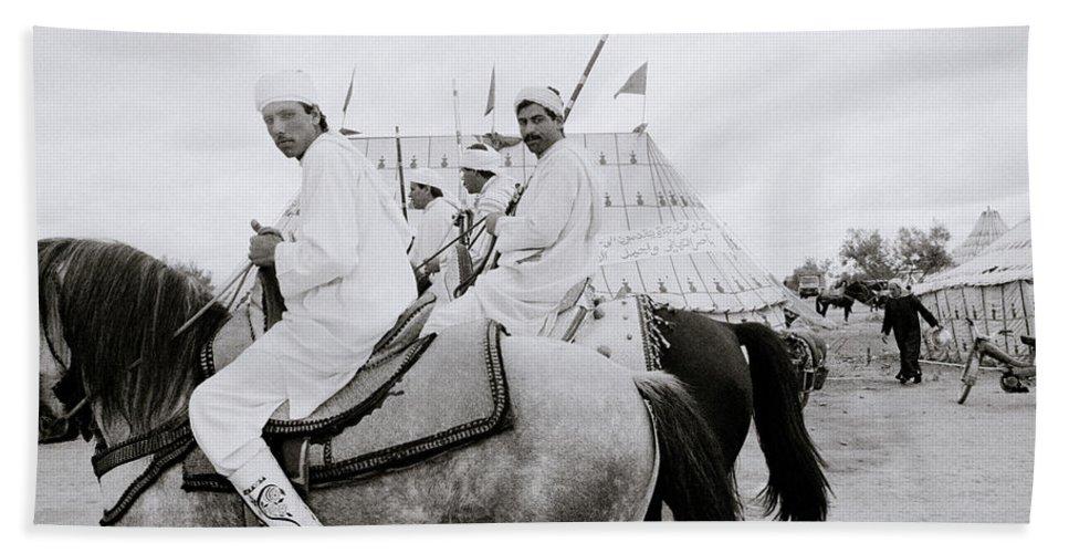 Horse Hand Towel featuring the photograph Berber Horsemen by Shaun Higson