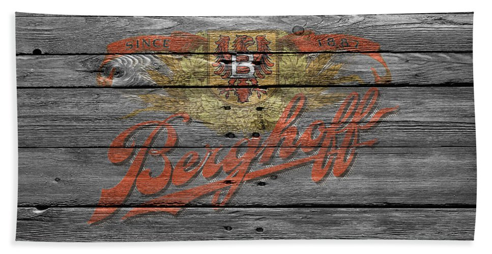Berghoff Hand Towel featuring the photograph Berghoff by Joe Hamilton