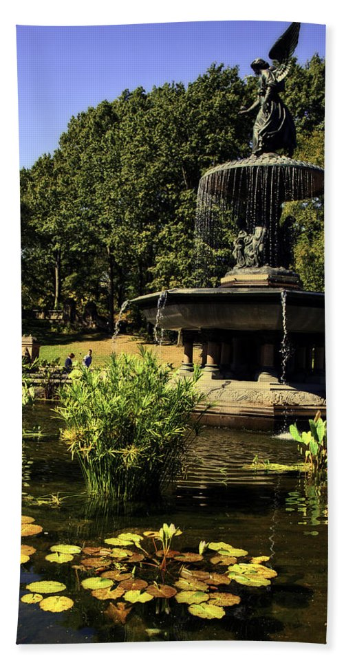 Bethesda Fountain Hand Towel featuring the photograph Bethesda Fountain - Central Park 2 by Madeline Ellis