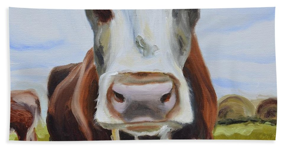 Donna Tuten Hand Towel featuring the painting Betsy by Donna Tuten