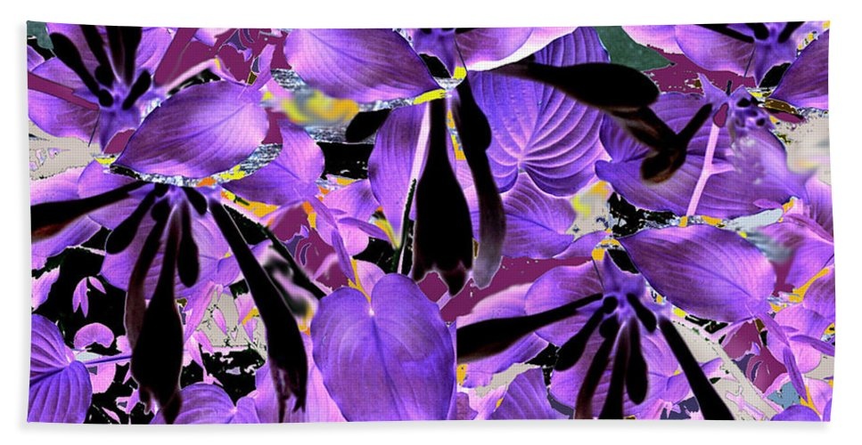 Beware The Midnight Garden Bath Towel featuring the digital art Beware The Midnight Garden by Seth Weaver