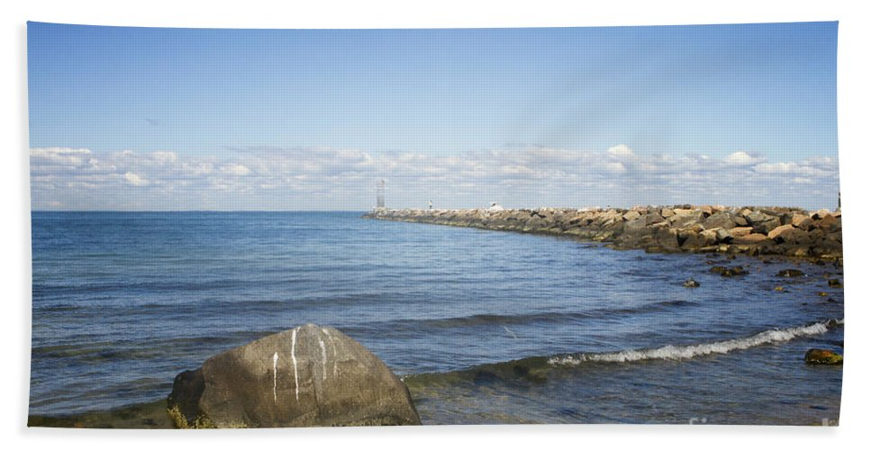 Jette Hand Towel featuring the photograph Beyond The Sea by A New Focus Photography