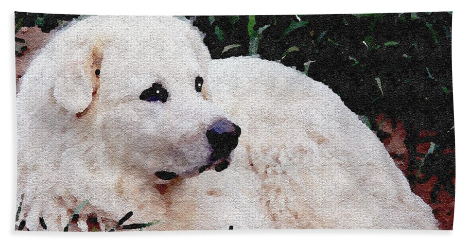 Dog Bath Sheet featuring the photograph Bianca - White Beauty by Ericamaxine Price