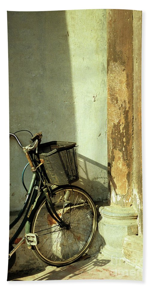Vietnam Bath Sheet featuring the photograph Bicycle 02 by Rick Piper Photography