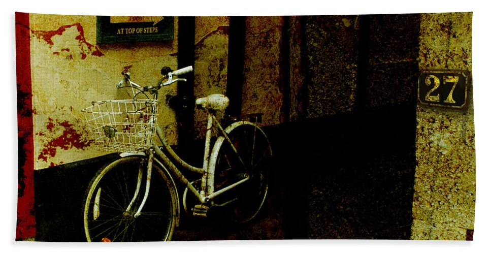 Bicycle Hand Towel featuring the photograph Bicycle by Mal Bray
