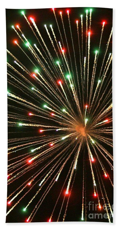 Fireworks Bath Towel featuring the photograph Big Bang by Rick Monyahan