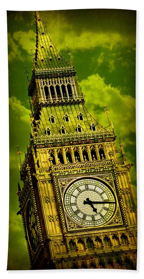 Big Ben Hand Towel featuring the photograph Big Ben 14 by Stephen Stookey