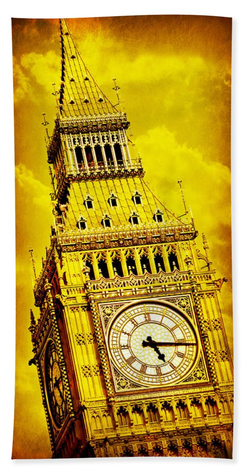 Big Ben Hand Towel featuring the photograph Big Ben 15 by Stephen Stookey