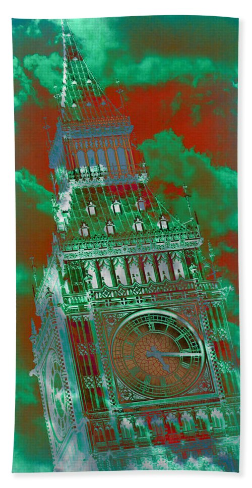 Big Ben Hand Towel featuring the photograph Big Ben 16 by Stephen Stookey