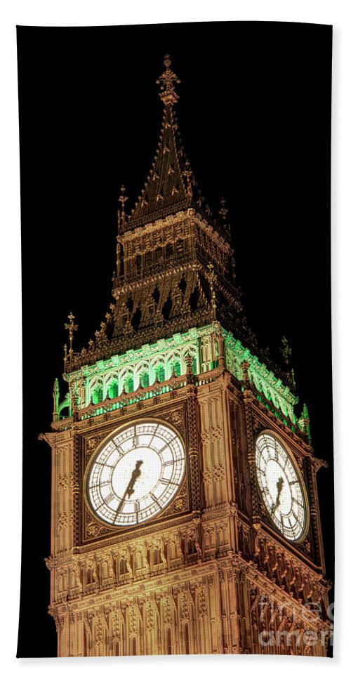 Big Ben Hand Towel featuring the photograph Big Ben Close Up by Jasna Buncic