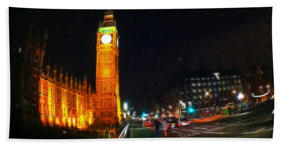 London Hand Towel featuring the photograph Big Ben - London by Doc Braham