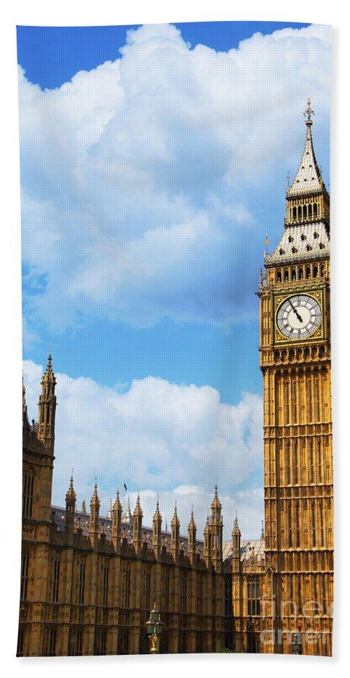 Big Ben Hand Towel featuring the photograph Big Ben by Mariola Bitner