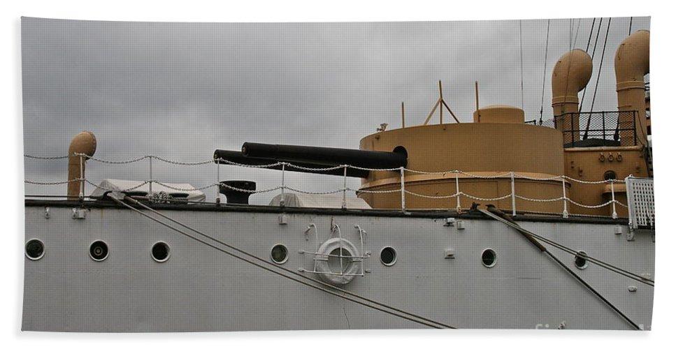 Cannon Bath Towel featuring the photograph Big Guns by Rick Monyahan