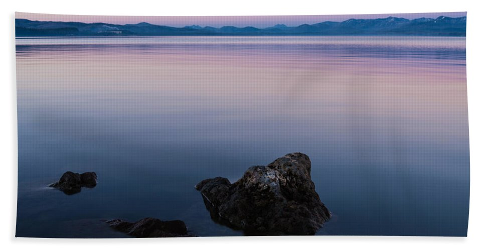 Yellowstone Bath Sheet featuring the photograph Big Lake by Kristopher Schoenleber