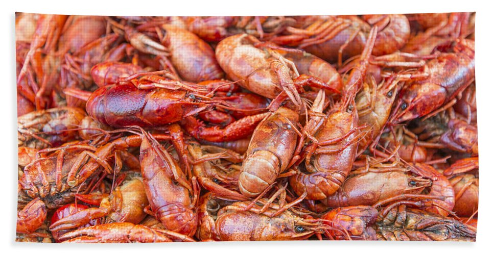 Asia Hand Towel featuring the photograph Big Prawns In Market by Jacek Malipan