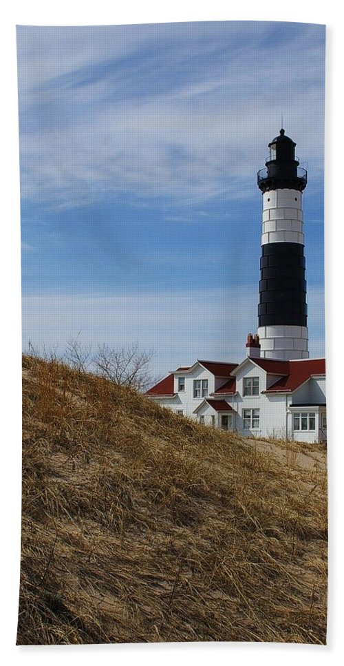 Lighthouse Hand Towel featuring the photograph Big Sable by Randy Pollard