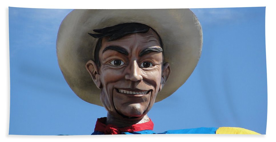 Big Tex Hand Towel featuring the photograph Big Tex by Charlie and Norma Brock