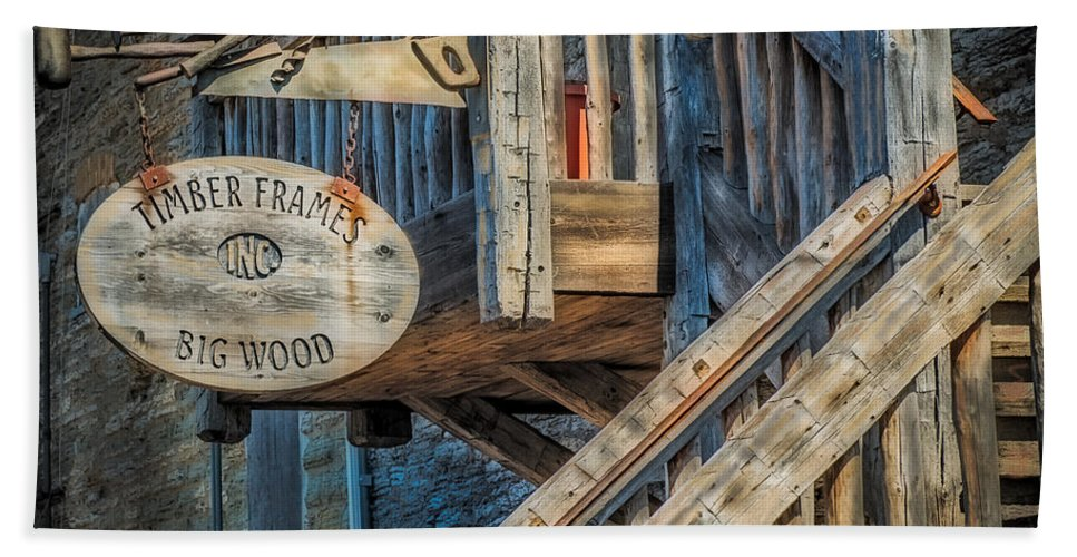 Timber Bath Sheet featuring the photograph Big Wood by Paul Freidlund