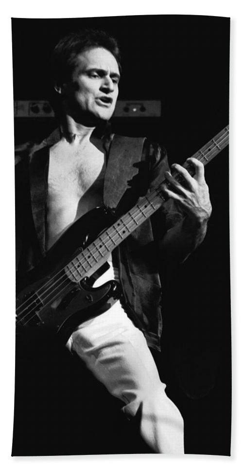 Bill Church Bath Sheet featuring the photograph Bill Church On The Bass by Ben Upham