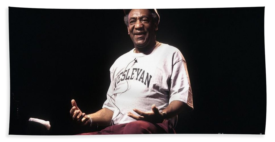 Bill Cosby Bath Sheet featuring the photograph Bill Cosby by Concert Photos