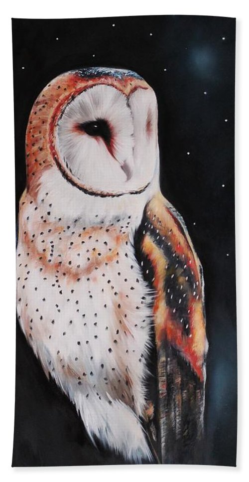 Bird Hand Towel featuring the painting Bird N.7 by Rebecca Tecla