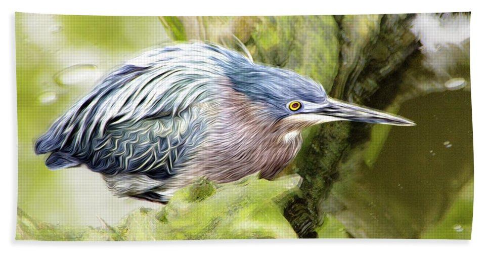 Bird Hand Towel featuring the photograph Bird Whirl2 by James Ekstrom