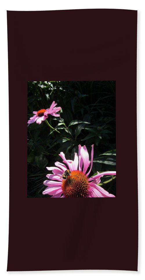 Flowers Hand Towel featuring the photograph Birds And The Bee by Rosita Larsson